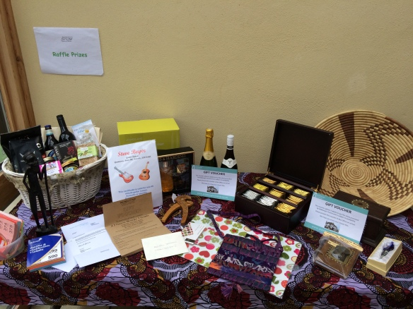 STOW event raffle prizes