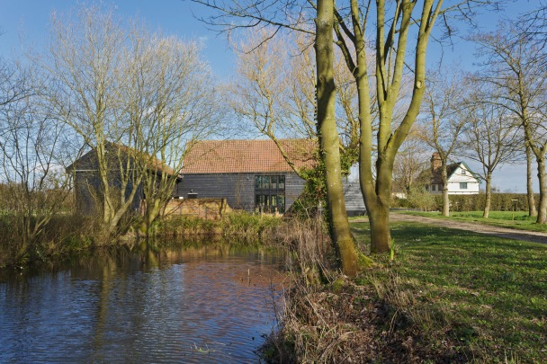Pond and Barns