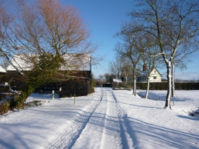 Entrance in the snow